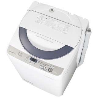 ES-GE55R-H 全自動洗濯機 グレー系 [洗濯5.5kg /乾燥機能無 /上開き]