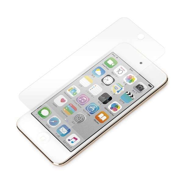 iPod touch 5G&6G用 液晶保護フィルム(光沢抗菌バブルブロック) PGIT6BB01