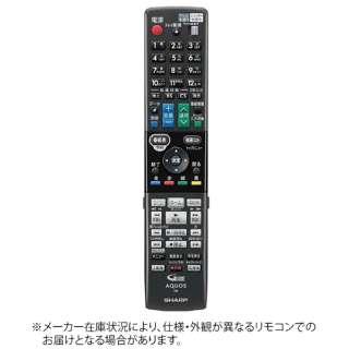 純正ブルーレイディスクレコーダー用リモコン RRMCGB160WJPA【部品番号:0046380267】