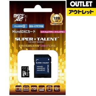 【アウトレット品】 microSDXCカード SUPERTALENT ST28MSU1P [128GB /Class10] 【数量限定品】