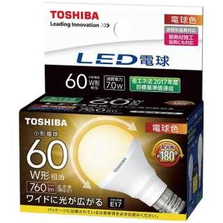 LED電球 (ミニクリプトン形[広配光タイプ]・全光束760lm/電球色相当・口金E17) LDA7L-G-E17/S/60W