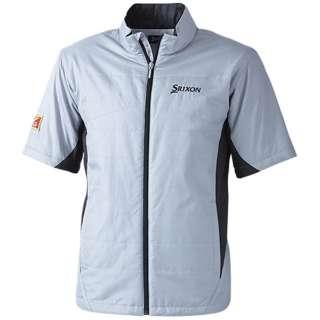 メンズ ゴルフウエア SRIXON 中綿入り半袖ジャケット(LLサイズ/シルバー) SMW5434J
