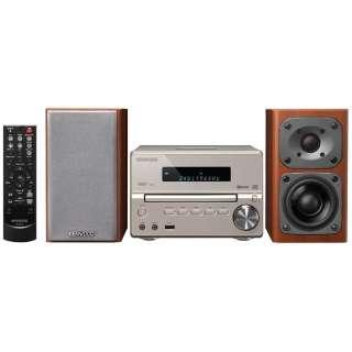 【ハイレゾ音源対応】Bluetooth対応 コンパクトHi-Fiシステム(ゴールド) XK-330-N【ワイドFM対応】