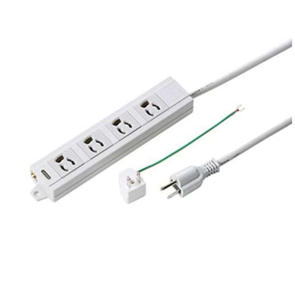 電源タップ (3ピン式・4個口・5m) TAP-MG341N2-5