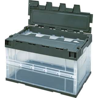 積水 ロック付フタ一体型オリコン OC-50L 透明OD 5LRFCOD