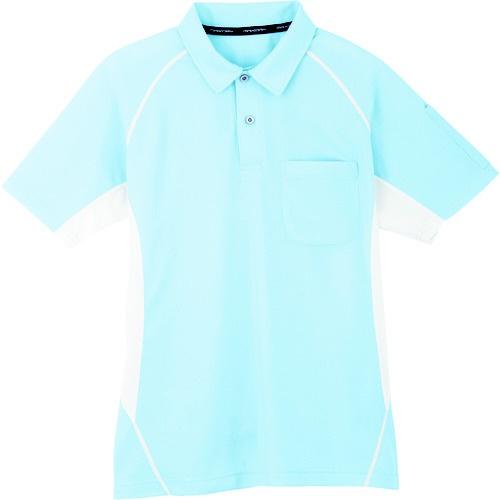 コーコス信岡 半袖ポロシャツ 7サックス LL MX7077LL