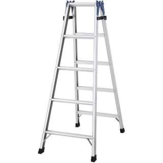 ハセガワ アルミはしご兼用脚立 標準タイプ RD型 5段 RD-15 《※画像はイメージです。実際の商品とは異なります》