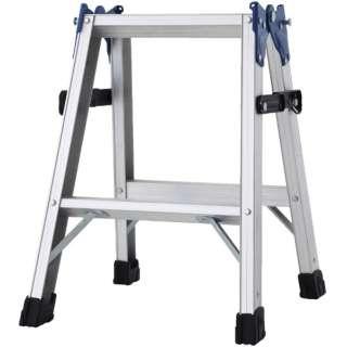 ハセガワ アルミはしご兼用脚立 標準タイプ RD型 2段 RD-06 《※画像はイメージです。実際の商品とは異なります》