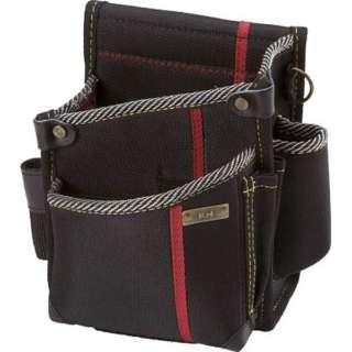 KH 進化シリーズ ウエストバッグ2段ポケット(小) 黒/緋 右腰用 SA14K