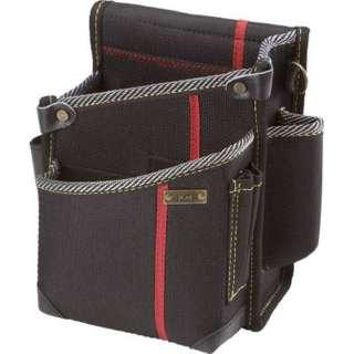 KH 進化シリーズ ウエストバッグ2段ポケット(大) 黒/緋 右腰用 SA08K