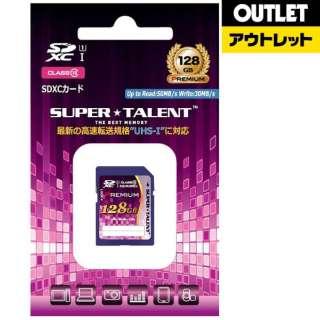 【アウトレット品】 SDXCカード [128GB /Class10] SUPERTALENT ST28SU1P 【数量限定品】