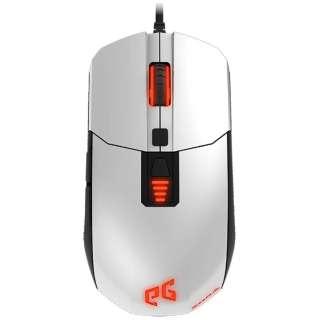 EGMZO1-BWOW-AMSG ゲーミングマウス ZorA ホワイト  [IR LED /7ボタン /USB /有線]