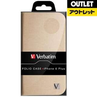 【アウトレット品】 手帳型 iPhone6plus用ケース 49873ゴールド 【生産完了品】