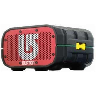 BRV1BER ブルートゥース スピーカー BRV-1 BURTON Red/Black [Bluetooth対応 /防水]