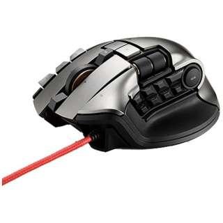 M-DUX70BK ゲーミングマウス DUXシリーズ ブラック  [光学式 /19ボタン /USB /有線/無線(ワイヤレス)]