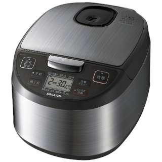 KS-S10J 炊飯器 黒厚釜&球面炊き シルバー [5.5合 /マイコン]
