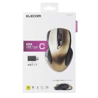 M-BL26DBCGD マウス M-BL26DBCシリーズ ゴールド  [BlueLED /5ボタン /USB (Type-C) /無線(ワイヤレス)]