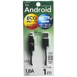 [micro USB]充電USBケーブル (1m・ブラック)UC-ECO100K [1.0m]