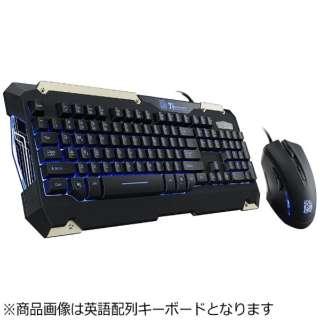 KB-CMC-PLBLJP-01 有線ゲーミングキーボード・マウス COMMANDER Gaming Gear Combo ブラック [USB /コード ]