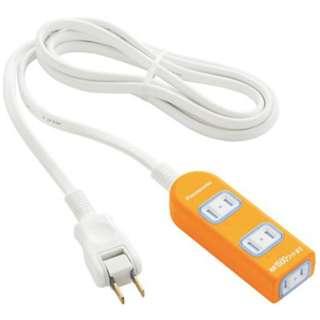 電源タップ 「ザ・タップX」(2P式・3個口・2m) WHA2523JKP オレンジ