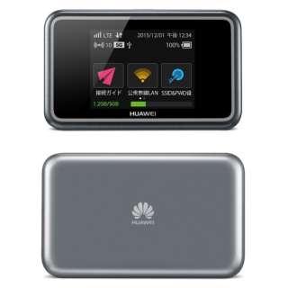【SIMフリー 】HUAWEI E5383 ブラック [E5383S-327] LTE/Wi-Fi/3G[無線a/b/g/n/ac・Bluetooth4.0] 国際ローミング対応 2.4型タッチ対応 microSIMx1 SIMフリーモバイルルーター