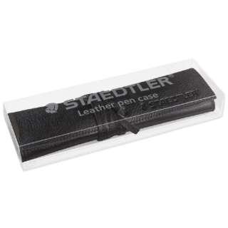 [ペンケース] 牛革製 レザーペンケース ブラック 900 LC-BK