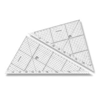 レイアウト用方眼三角定規 24cm 966 24