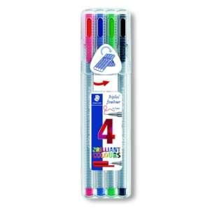 [水性マーカー] トリプラス ファインライナー・細書きペン 4色セット 334 SB4
