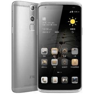 AXON miniクロームシルバー「AXONMINI/SILVER」 Snapdragon 615 Android 5.1・5.2型・メモリ/ストレージ:3GB/32GB  nanoSIMx2 SIMフリースマートフォン