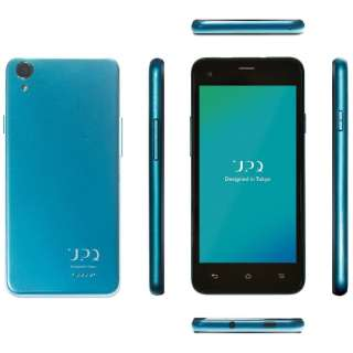 UPQ Phone A01X ブルー バイ グリーン「QASP001BGX」 4.5型・メモリ/ストレージ:1GB/16GB microSIMx2 ドコモ/ソフトバンクSIM対応 SIMフリースマートフォン