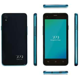 UPQ Phone A01X ブラック「QASP001BKX」 4.5型・メモリ/ストレージ:1GB/16GB microSIMx2 ドコモ/ソフトバンクSIM対応 SIMフリースマートフォン