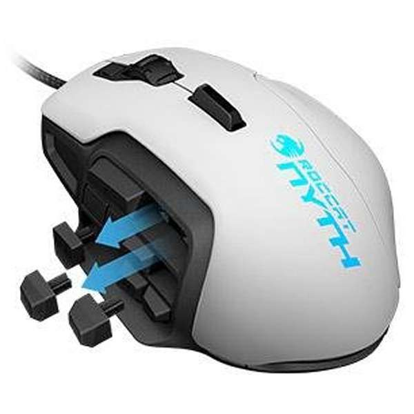 ROC-11-901-AS ゲーミングマウス Nyth ホワイト  [レーザー /18ボタン /USB /有線]