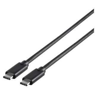 1.0m[USB-C ⇔ USB-C]3.1 Gen1ケーブル 転送 ブラック BSUCC31110BK