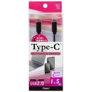 1.5m[USB-C ⇔ USB-C]2.0ケーブル ブラック ZUH-CC215BK