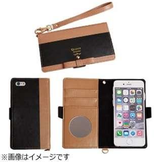 iPhone 6s/6用 手帳型 trouver Quince トルヴェ クインス ダイアリーケース モカ×ブラック