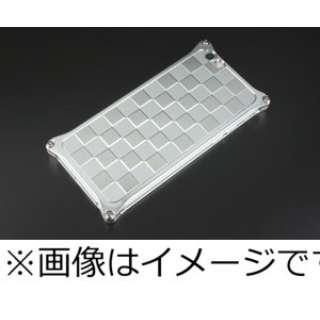 iPhone 6s/6用ソリッドバンパー対応 アルミパネル市松 シルバー 41418 GI-307S