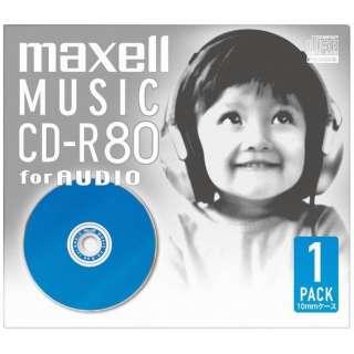 CDRA80DBL1J 音楽用CD-R ブルー [1枚]