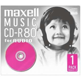 CDRA80D.PK.1J 音楽用CD-R ピンク [1枚]