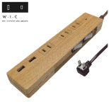 NATURAL WOOD TAP(ナチュラルウッドタップ) W-I-C ベージュウッド PT337BEWD [1.5m /3個口 /2ポート /スイッチ付き(個別)]