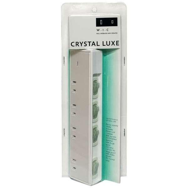 タップ CRYSTAL LUXE(クリスタルリュクス) W-I-C ホワイト PT405WH [1.5m /4個口 /スイッチ付き(個別)]