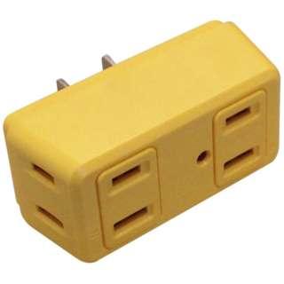 電源タップ 「COLOR BLOCKS ロングブロック」 (2ピン式・4個口) 雷サージガード搭載 CT003YE