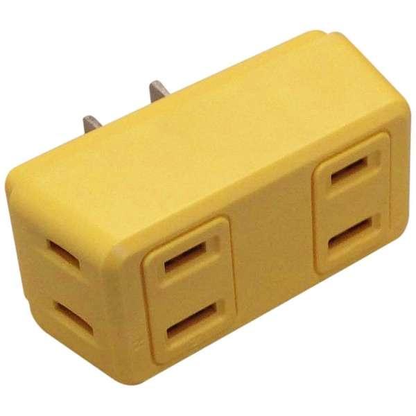 電源タップ 「COLOR BLOCKS ロングブロックノーマルタイプ」 (2ピン式・4個口) CT004YE