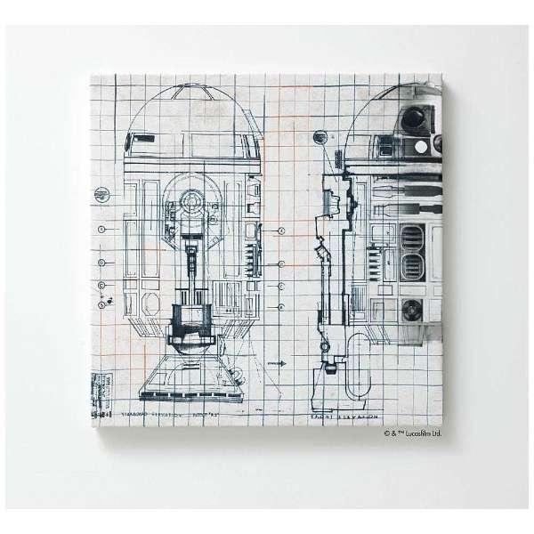 ファブリックパネル スター・ウォーズ R2-D2(41×41cm/ベージュ)【日本製】