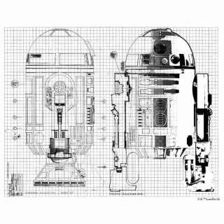 ドレープカーテン R2-D2 LINE(100×200cm/ホワイト)【日本製】