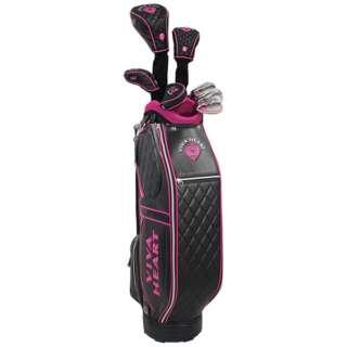 レディース ゴルフクラブ 8本セット(ブラック/キャディバッグ付) VH25HG31