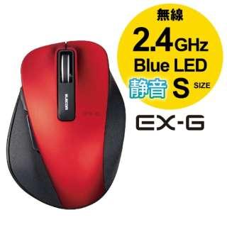 M-XGS10DBSRD マウス EX-G Sサイズ レッド  [BlueLED /5ボタン /USB /無線(ワイヤレス)]