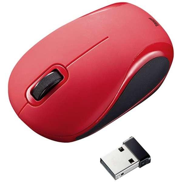 MA-WBL36R マウス レッド [BlueLED /2ボタン /USB /無線(ワイヤレス)]