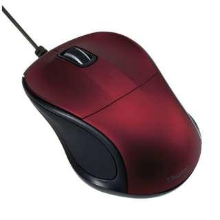 有線BlueLEDマウス[USB 1m・Mac/Win] 静音 mini (3ボタン・レッド) MUS-UKT110R