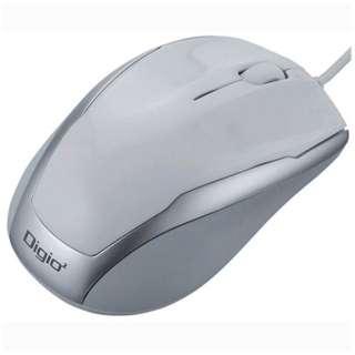 MUS-UKT115W マウス Digio2 ベーシック ホワイト  [BlueLED /3ボタン /USB /有線]