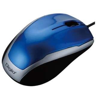 MUS-UKT115BL マウス Digio2 ベーシック ブルー  [BlueLED /3ボタン /USB /有線]